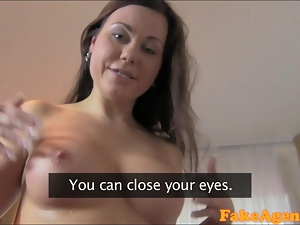 FakeAgent HD Huge facial for smiley tits