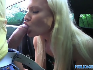 PublicAgent Sexy blonde loves getting fucked outside