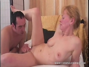 Older woman has her bald pussy fucked