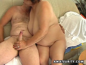 Chubby mature amateur wife sucks and fucks