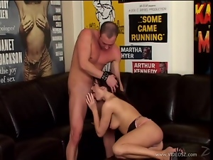 Sensual Melissa Lauren gets a mouth full of hard cock