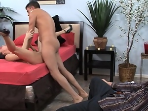 Dude watching his wife getting fucked