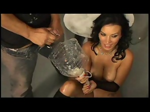 Bailey brooks american busty girl drinks dozens of loads of
