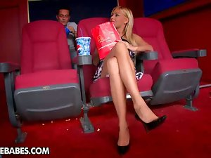 Foot fetish at the movies