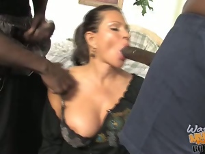 Teri Weigel helps out her son