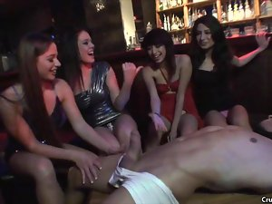 Slutty club girls fucked by male stripper