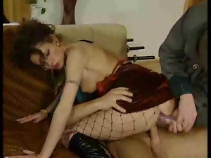 German lady gobbles two loads