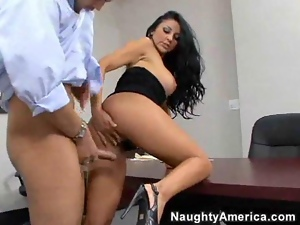 Audrey bitoni gets fucked on a desk