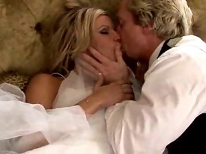 Blonde Brides Kiss Their Lovers