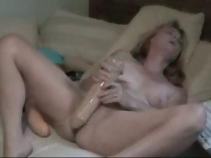XXL Dildos Magically Disappear into Wet Mature Pussy