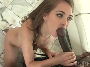 Riley Reid sucks huge black cock in sneakers