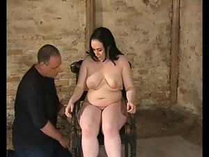 Bound in basement and flogged over her body
