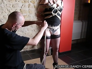 french shibari soumise sandy en bondage no sex