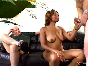 His sexy black wife cheats with a white guy
