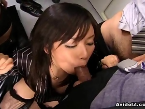 Japanese office lady fucked hard uncensored