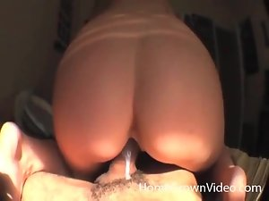 She rides BF big black cock in reverse cowgirl