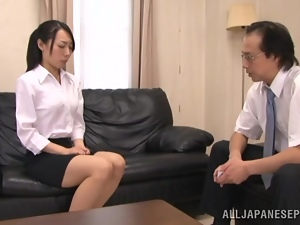 Kinky Japanese girl wants to be jizzed on her ass