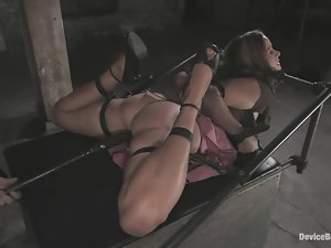 Gorgeous Christina Carter gets toyed hard in BDSM video