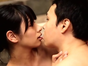 Hana Haruna makes out with her BF and has multiposition sex with him