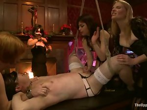 Cute girls get tortured and fucked in BDSM vid and enjoy it