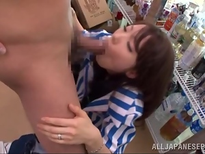 Kinky Japanese couple has some naughty banging in a supermarket
