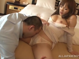 Stunning Japanese angel is enjoying some hard penetration