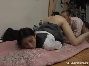 Azumi Mizushim gets fucked from behind and sits on guy's face
