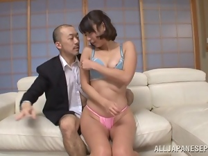 Shy Yayoi Yanagida gets fucked hard by older man