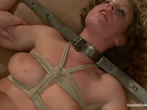 Two insatiable chicks enjoy being fucked by two men in BDSM scene