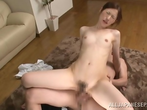 Sexy Japanese girl gets fucked by her coworker in a flat