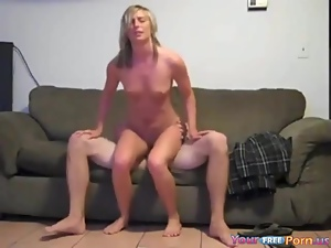 Horny Teen Babysitter Fucks Her BF On The Job