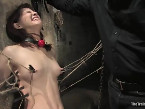 Kinky Devi Lynne gets spanked and humiliated in a basement
