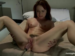 Cute AnnaBelle Lee fingers her ass and gets toyed