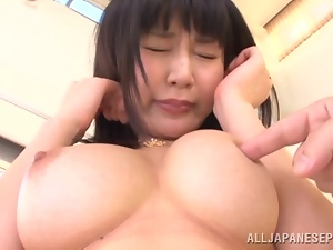 Asian hun with big tits wants to be jizzed on her tits