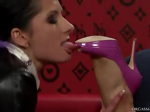 Busty Lesbians Nessa Devil and Victoria Rose Toying and Fingering