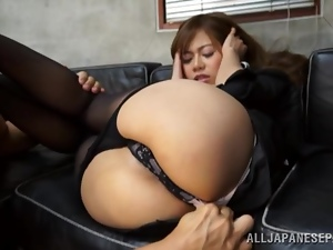 Cute Japanese office girl gets nailed by her boss