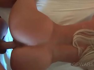 POV amateur blonde getting trimmed cunt fucked