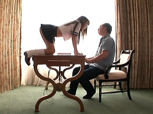 Hitomi Kitagawa seduces some guy and pleases him with a blowjwob