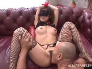 Mayuka loves it rough and playing kinky sex games