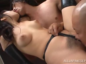 Yui Fujishima sucks two shafts and gets fucked like never before