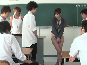 Manami Chihiro the sexy teacher in bikini gets pounded