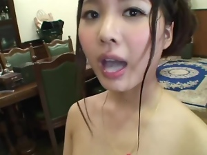 Ruka Ishikawa gets a mouthful of jizz after some naughty banging