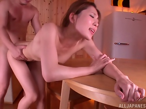 Rin Sakuragi enjoys fervent multiposition sex indoors
