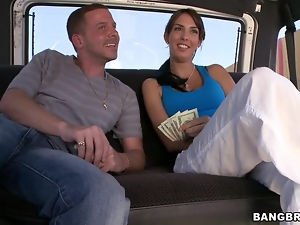 Bangbus adventures with a smoking hot babe Karina