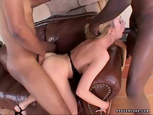 Sexy and naughty honey Kelly makes two men happy