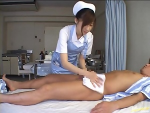 Miyu Only Does Her Nurse Duty To Get To Suck Cock