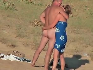 Naughty couple from France is acting wild on the beach