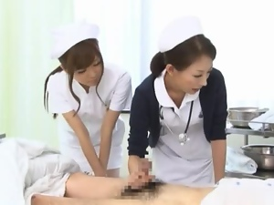 A Pair Of Naughty Nurses Suck A Patient Off