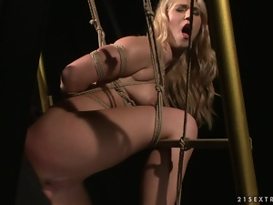 Linda Ray the poor blonde gets pounded in BDSM video