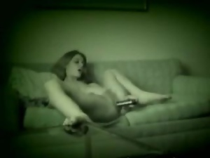 Good masturbation on sofa on a hidden camera
